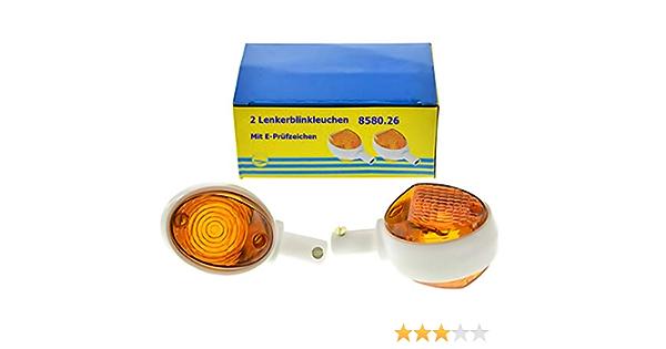 Blinker Set Mit E Prüfzeichen Rechts Links Für Simson Schwalbe Kr51 1 Kr51 2 10 108 Auto