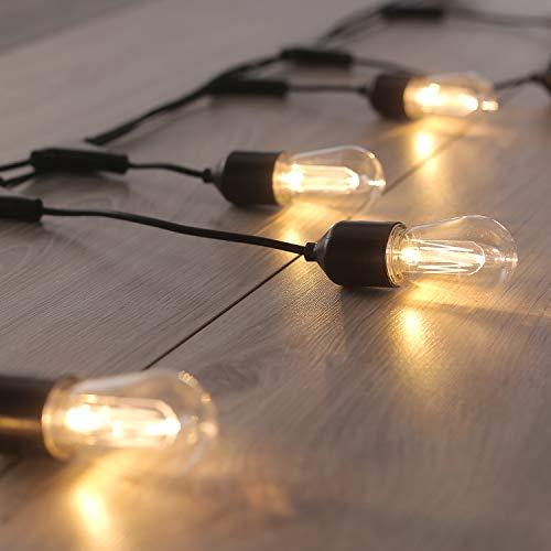 DecoKing 45046 10er LED Lichterkette Glühbirnen erweiternder Satz mit Connector statisch strombetrieben Lichterkette Innen und Außen Gartendeko