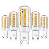 Eco.Luma G9 LED Dimmbar Leuchtmittel, Warmweiß 2800K, 4W Ersatz 28W 33W 40W Halogenlampe, Lampe G9 Sockel 320LM Kein Flackern, AC 220-240V, 5er Pack