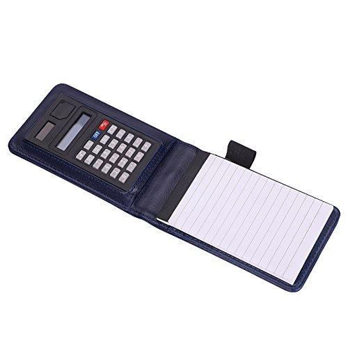 Notizbuch leder Kreativ Tragbar notizblock mit Rechner Kleine Schreibblock A7 Geschäftsbuch 12.7 × 0.75cm Schreibblock 30 Blätte für Arbeit Schreiben Zeichnen
