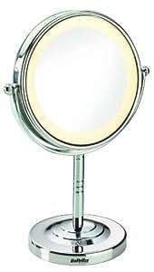 BaByliss 8435E Specchio Luminoso, Rotondo, Ingrandimento x 5