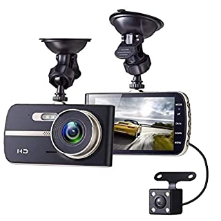 AUTOMATE® Front and Rear Dual Lens 170°Wide Angle Mini Camera Dash Cam 1080P Full HD DVR, For Video Loop Recording Dashboard, Park Monitor, Built in G-Sensor