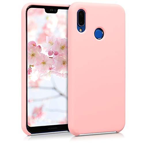 kwmobile Funda para Huawei P20 Lite - Carcasa de {TPU} para teléfono móvil - Cover {trasero} en {rosa oro mate}