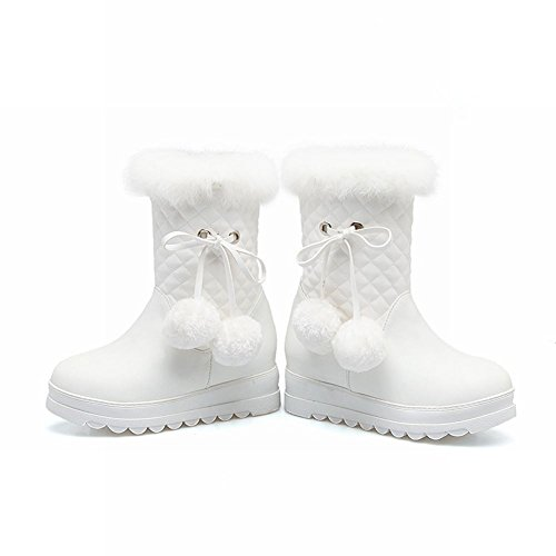 MissSaSa DONNA STIVALETTI COL TACCO DOLCE BOOTS Bianco
