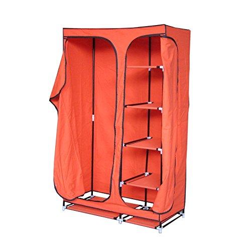 MACO Import Stoffschrank 4 Fächer Kleiderstange Garderobenschrank Faltschrank Campingschrank...