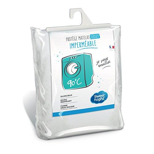Sweetnight - Protège matelas 160x200 cm   Alèse Imperméable et Micro Respirante   Souple et Silencieux   Lavable à 90°C