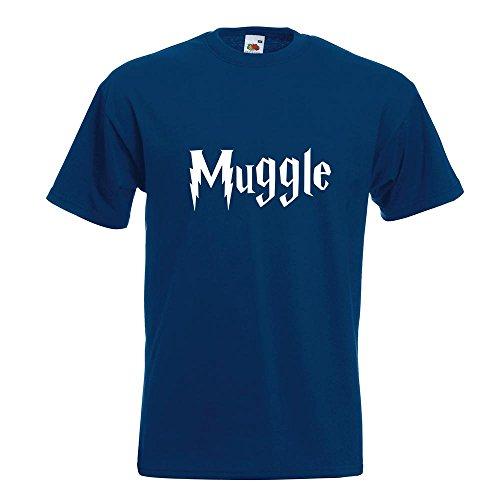 KIWISTAR - Muggle - Muggel T-Shirt in 15 verschiedenen Farben - Herren Funshirt bedruckt Design Sprüche Spruch Motive Oberteil Baumwolle Print Größe S M L XL XXL Navy