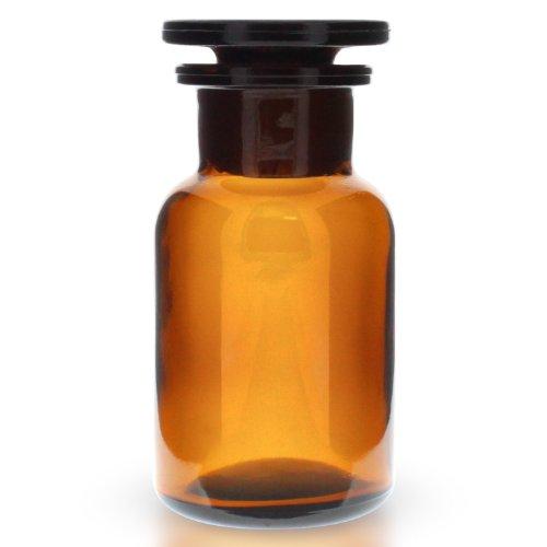 10x Weithals Rundschulterflasche 100ml aus Braunglas inklusive Glasstopfen -