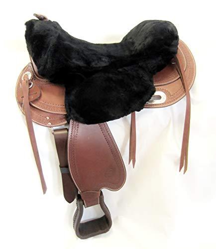 PS Pferdeartikel Westernsattel Sitzbezug aus Merino Lammfell - Unigröße Farbe schwarz