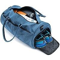 ZEDOR - Sac de sport avec Compartiment à chaussures 100% tendance Sac fitness avec Bandoulière Et Support de bouteilles Hydrofuge
