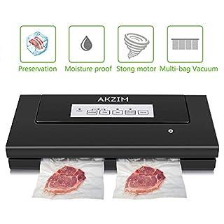 Machine sous Vide, AKZIM Automatique Machine De Cachetage De Nourriture avec Fréquence de Vide Controllable, Emballeuse sous Vide pour Conservation des Nourritures