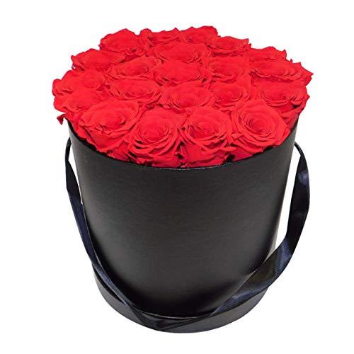 Boite de Roses éternelles/Flowerbox/Cadeau pour Saint-Valentin Fête des mères Anniversaire Décoration