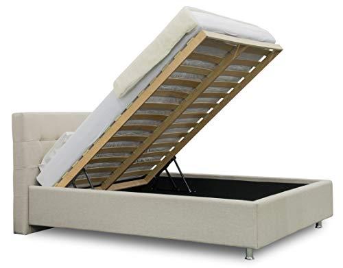 ES Design 08 Polsterbett Lion mit 5 Jahren Garantie, EIN hochwertiges Bett, Lattenrost und Stauraum