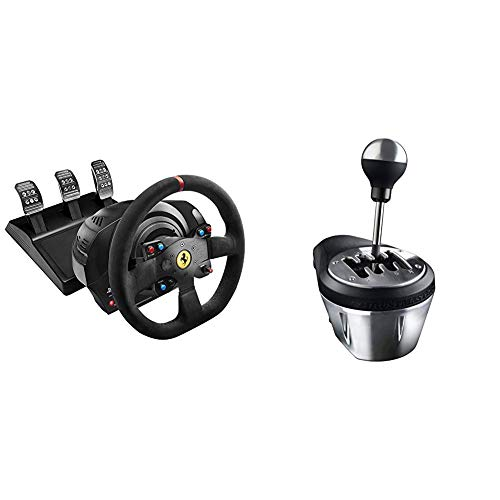 Thrustmaster T300 Integral Rw Volante, Alcantara Edition - PC/PS4/PS3 + Thrustmaster TH8A  Cambio per volanti (PS4, Xbox One, PS3, PC - Windows 8, 7, Vista & XP)