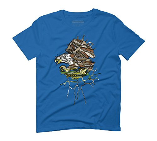 ABSTRACT BALD EAGLE Men's Small Royal Blue Graphic T-Shirt - Design By Humans (Bald Eagle Artwork)
