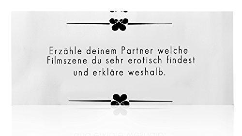 Deluxe Paar Liebesspiel Lustbox, erotisches Partnerspiel mit 101 Aufgaben in edler Herz voller Erotik Metallbox - 8