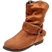 Botines Altos de para Mujer Otoño Invierno 2018 Moda PAOLIAN Botas  Terciopelo Chelsea de Charol Zapatos 70c4412e5d4