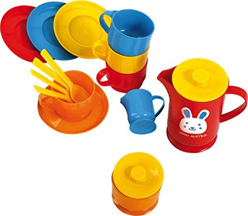 Gowi 454-14 Kaffeeservice Lyon, Küchenspielzeug, 17 teilig