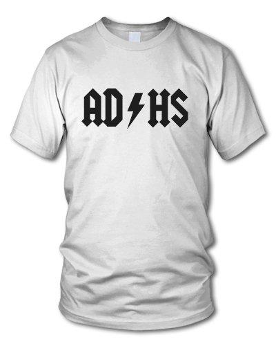 shirtloge - AD HS - KULT - Fun T-Shirt - in verschiedenen Farben - Größe S - XXL Weiß (Schwarz)