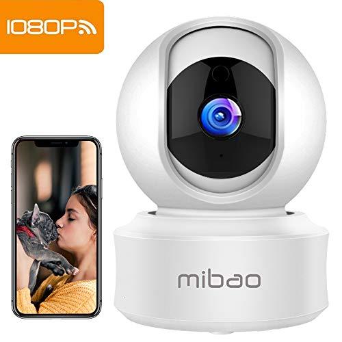 1080P Camaras De Vigilancia WiFi Interior Mibao Camara Vigilancia, HD Visión Nocturna,...