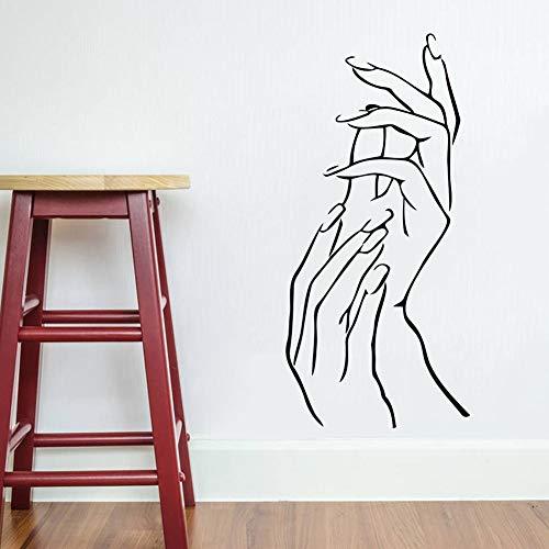 nkfrjz Abnehmbare Vinyl Frau Hände Schönheit DIY Aufkleber Kunst wandaufkleber kinderzimmer 57X28CM