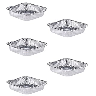 AiO-S - OK ALU Grillschale 5 Stück 20 x 20 x 4,5 cm Aluschale Grillteller Aluteller Grillplatte