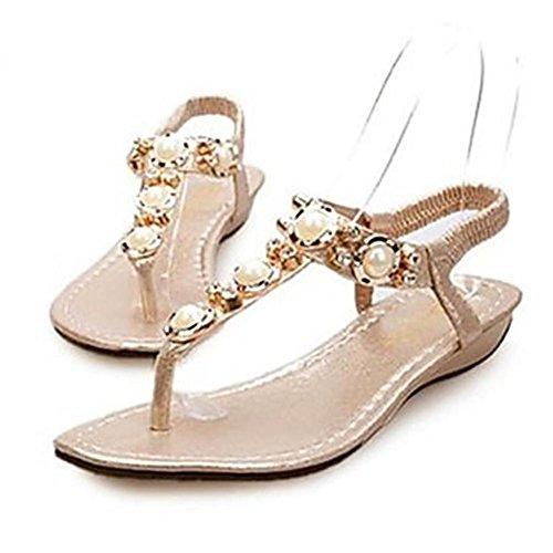 GAGLAI Chaussures femme Slingback talon plat sandales chaussures plus de couleurs disponibles Silver