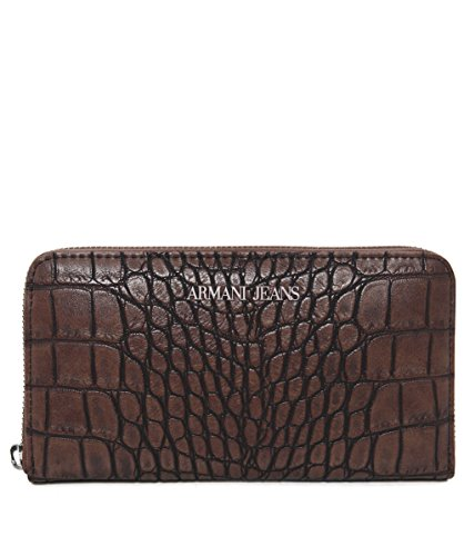 ARMANI JEANS CROCO WALLET 9280326A711-04552 BROWN AFTER
