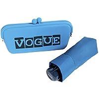 Paraguas Vogue presentado en un Bonito Estuche Tipo Clutch. Ideal para Regalar y Llevar de