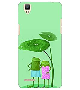 PrintDhaba Funny Image D-4426 Back Case Cover for OPPO F1 (Multi-Coloured)