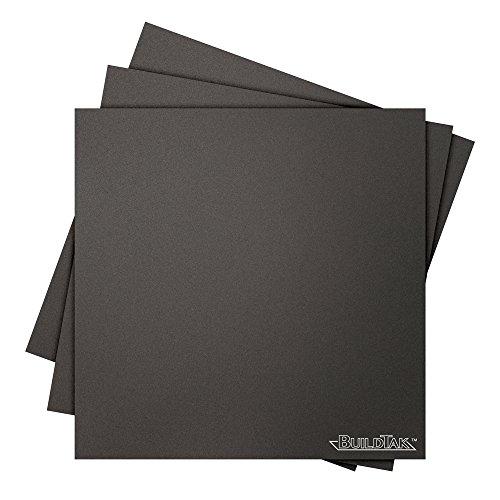 "BuildTak BT08x08-3PK 3D Printing Build Surface, 8"" x 8"", 203 mm x 203 mm, Square, Black (Pack of 3) Test"