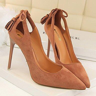 Moda Donna Sandali Sexy donna tacchi Primavera / Estate / Autunno / Inverno Comfort / Punta / punta chiusa Casual Stiletto Heel Bowknot / Fiocco Black