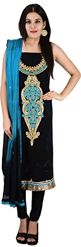Raj Nandini Suits & Sarees Women's Georgette Semi Stitched Salwar Suit Set(RajNandini09 _ P