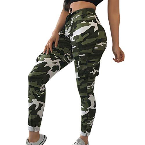 Elsta Damen Casual Hip Hop Hose Yogahose Tanzhose Camouflage Bedruckte Lässige Haremshose Mädchen Jogger Trainingshose Casual Sport Camo Cargo Hosen