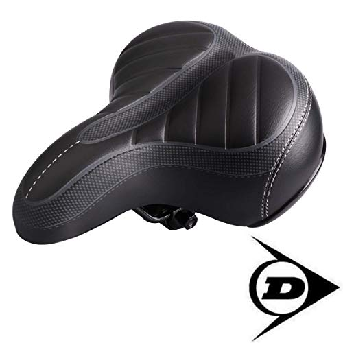 Dunlop FGS19 ergonomischer Cityrad Touring Gel Fahrradsattel, Damen u. Herren Cityradsattel gefedert, Stoßresistenter weicher Gelsattel , Fahrrad Sattel extra gepolstert, Komfortsattel, schwarz -