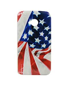 Exclusive Rubberised Back Case Cover For Motorola Moto E (2nd Gen) / Moto E2 - USA Flag