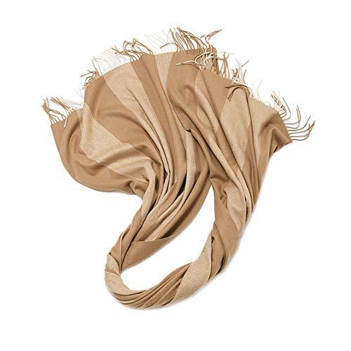 Leichtes Kopftuch aus Satinschal Bufanda de Lana cálida de otoño e Invierno para Mujer Chal Grueso y Suave Babero Salvaje Abrigo de Manta de Abrigo de mantón Tibio