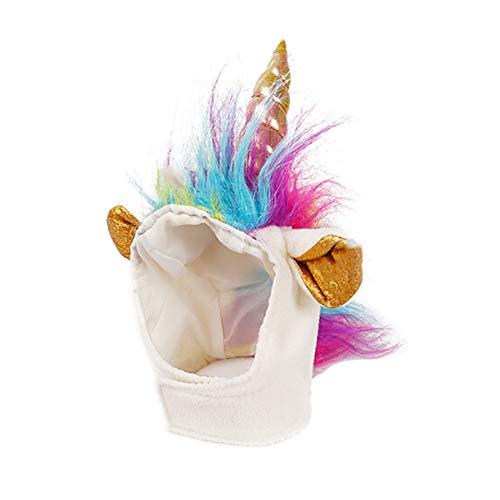 TizzyPet Einhorn-Kostüm für Hunde und Katzen, für Halloween, Weihnachten, Geburtstag (Einhorn Kostüm Hund)