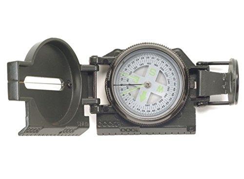 US Army Marsch Kompass Typ Ranger flüssigkeitsgedämpft in Metallgehäuse (Oliv) (Visiereinrichtung)