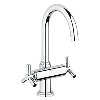 GROHE 21019000 Atrio Basin Tap with Pop-Up Waste, Large - Chrome