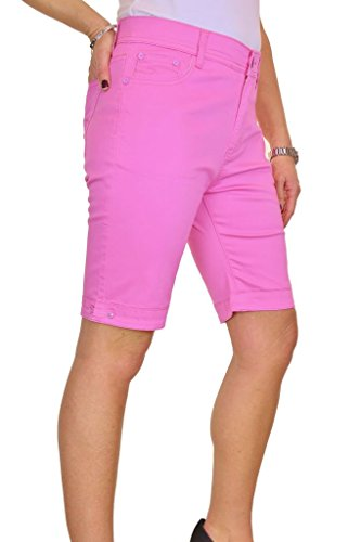 ICE (1515-6) Plus Size Stretch Jeans Stil Shorts Chino Sheen Rosa (50) (Size Plus Jeans-shorts)