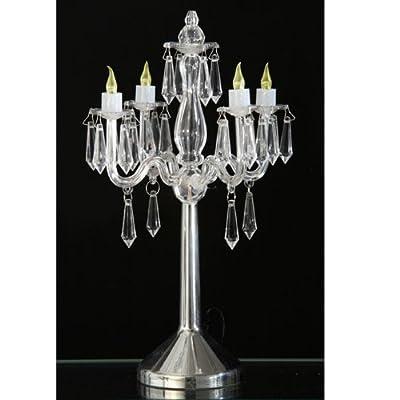 Tischlampe Leuchter Kerzenleuchter Tischleuchte Esto LED Kristall 990418 WEISS von Esto bei Lampenhans.de