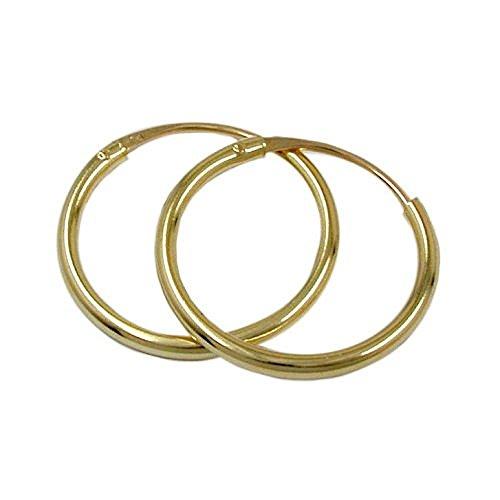 *585 Gold 14K Damen Herren Kinder Ohrringe Ohrschmuck Creolen 1,8x20mm*