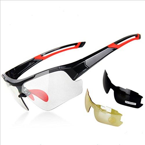 MYLEDI Polarisierte Sonnenbrille Männer Und Frauen Lauf Radfahren Farbe Polarisierte Nachtsichtgläser Tr90 Material Pc Linsen,Red