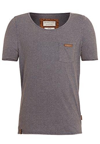 Naketano Male T-Shirt Fashionopfa II Heritage Indigo Blue Melange, M