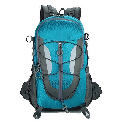 GJF Wanderrucksack, 30L wasserdichter Nylon-Trekkingrucksack, leichter Bergsteigen-Tagesrucksack, für Camping, Radfahren, Reisen, Klettern, Outdoor-Sport, Männer, Frauen-blue Usb Tip Pack