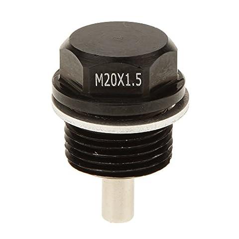 Bouchon Magnétique Écrous Boulon D'huile Anodisé Moteur Pour Toyota Nissan M20*1.5mm - Noir
