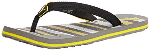 Puma Men's Beach Ind. Steeple Gray and Dandelion Rubber Flip Flops Thong Sandals - 8 UK/India (42 EU)  available at amazon for Rs.340