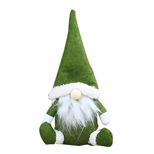 Weihnachtsbaumschmuck Stocking Decorations Sackleinen Land Weihnachtsstrumpf Ball Tree Bell mit trendigen roten und grünen Plaid Tartan