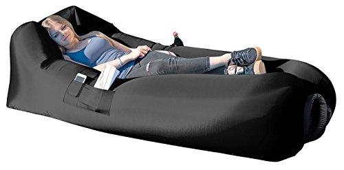 Semptec Urban Survival Technology Aufblasbares Luftsofa mit Tragetasche, für In- & Outdoor, 90 x 200 cm